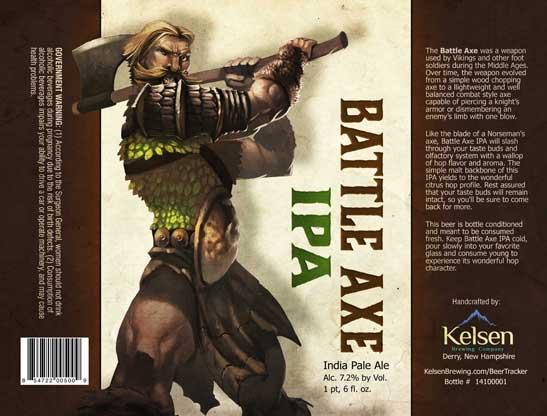 Battle Axe IPA from Kelsen Brewing Company